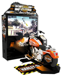 Harley Davison : King Of The Road / King Of Harley DLX Deluxe / Motorcycle Video Arcade Racing Game | Deluxe Cabinet Model From SEGA Amusements