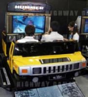 Hummer Super Deluxe Motion Simulator Video Arcade Game - Live Picture