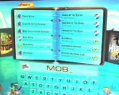 JVL MediaStream Music Network - On Screen Internet Jukebox Song Selection Screen