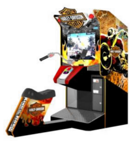 Harley Davidson king Of The Road Standard Model Motorcycle Arcade Game From Sega