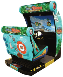 Let's Go Island : Dream Edition Motion Simulator Video Arcade Game From SEGA