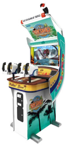 Let?s Go Island Standard Upright Model Jungle Adventure Hunting Video Arcade Game From Sega