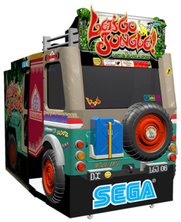Let's Go Jungle Deluxe Model Video Arcade Game From SEGA Arcade Amusements