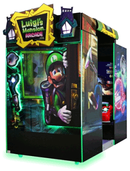 Luigi's Mansion Arcade Theater Style Video Arcade Shooting Game From Sega