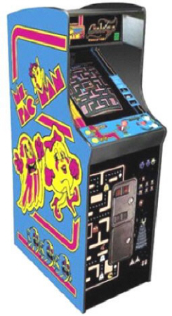 "Ms. Pac-Man / Galaga 20th Anniversary 19"" Non-Coin Video Arcade Game - 19"" Home / Free Play Upright Cabinet Caberet Home Non-Coin Model  From Namco"