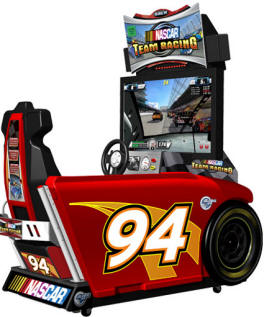 NASCAR Team Racing Deluxe Model Video Arcade Driving Game From Global VR