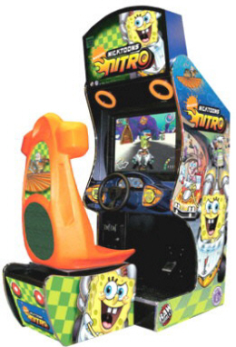 Nicktoons Nitro Racing / Kids Video Arcade Game From Betson / Raw Thrills