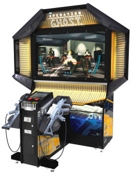 """Operation Ghost / G.H.O.S.T. 55"""" Deluxe Video Arcade Game From Sega"""