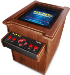 Pac Man's Arcade Party Cocktail Table Video Arcade Game - Top View | Namco
