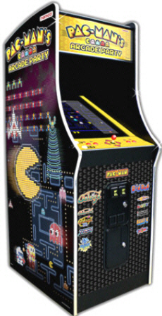 "Pac Man's Arcade Party Video Arcade Game 25"" Commercial Coin Operated Model"