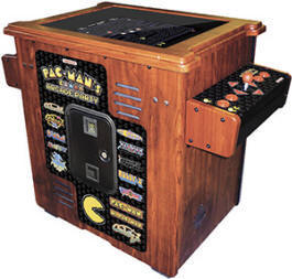"Pacman's Arcade Party Cocktail Table Model - 30th Anniversary Video Arcade Game - 19""  Cocktail Table Home Edition / Non-Coin Free Play Model From Namco"