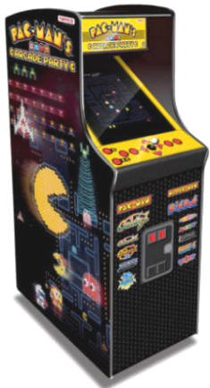 "Pacman's Arcade Party - 30th Anniversary Video Arcade Game - 19""  Caberet Upright Home Edition / Non-Coin Free Play Model  From Namco"