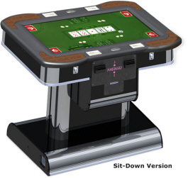Big Tony's PokerKard Electronic Video Poker Machine Cocktail Sit Down Model From Benchmark Games