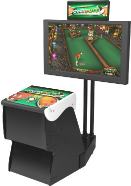 Power Putt 2013 Home Edition Miniature Golf Video Arcade Game Factory Showpiece Cabinet Mode