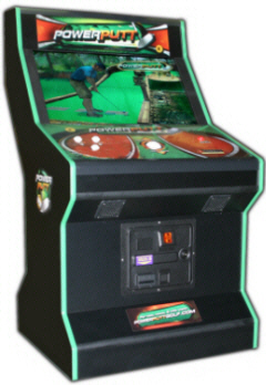 "Power Putt Golf Video Game 32"" LCD Cabinet Model From Funco / Fun Company"