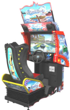 Power Boat MDX / Powerboat MDX Mini Deluxe Model - GT V2.0 Speedboat Video Arcade Motion Simulator Race Game From Injoy Motion