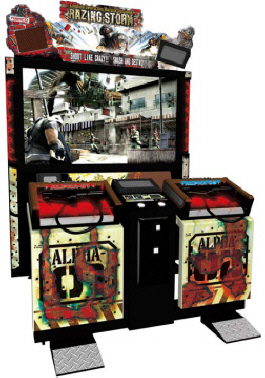 Razing Storm Video Arcade Game Deluxe Model From Namco