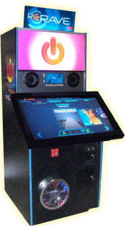 ReRave Arcade Music Rhythm Video Game From Step Evolution and Coast To Coast Entertainment