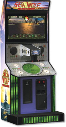 Sea Wolf The Next Mission Upright Video Arcade Game
