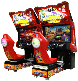 Sega Showdown Deluxe Video Arcade Racing Game From SEGA