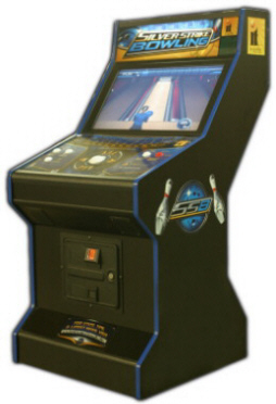 "Silver Strike Bowling 2009 32"" LCD Cabinet Model Video Bowling Machine From FunCo / Incredible Technologies"