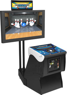 Silver Strike Bowling 2009 Pedestal Cabinet Model Video Arcade Game From Incredible Technologies