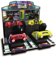 Street Racing Stars MDX-1 Mini Deluxe Motion Simulator Racing Video Arcade Game From Injoy Motion