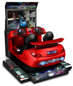 Street Racing Stars SDX2-1 Super Deluxe Video Arcade Racing Motion Simulator Game From Injoy Motion