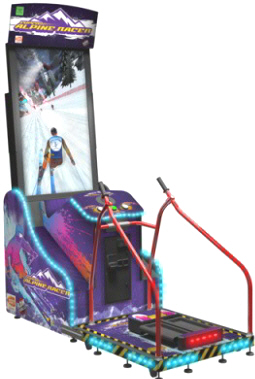 Super Alpine Racer Arcade Video Skiing Game From Namco