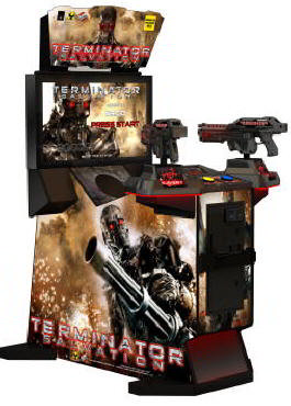 "Terminator Salvation Arcade 32"" Fixed Guns Model Video Arcade Game"
