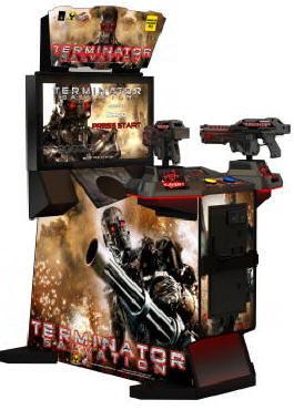 "Terminator Salvation Arcade 32"" Fixed Guns Model Video Arcade Game"