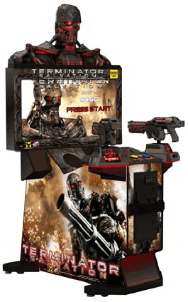 "Terminator Salvation Arcade 42"" Fixed Guns Model Video Arcade Game From Raw Thrills"