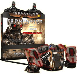 "Terminator Salvation Arcade SDX / Super Deluxe 100"" Model Video Arcade Game With 100"" Projection Monitor"