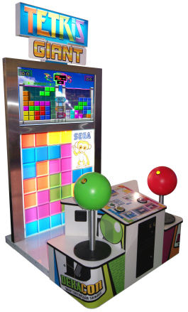 Tetris Giant / Giant Tetis Video Arcade Game - 2011 Model From SEGA Amusements
