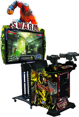 "The Swarm 3D 55"" Video Arcade Shooting Game From Global VR"