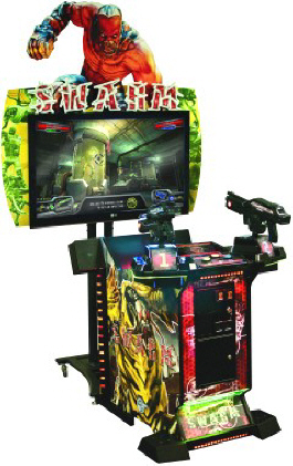 "The Swarm 3D 47"" Video Arcade Shooting Game From Global VR"