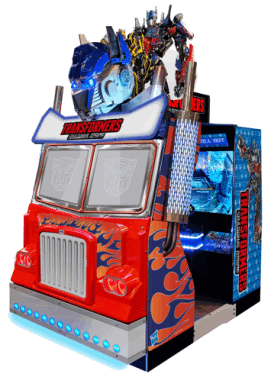 Transformers : Shadows Rising Video Arcade Game Theater From SEGA Amusements