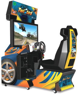 Twisted Nitro Stunt Racing Deluxe Video Arcade Game From Global VR and EA Sports