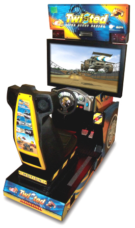 Twisted Nitro Stunt Racing Mini Motion Simulator Cabinet Video Arcade Game From Global VR and EA Sports