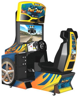 Twisted Nitro Stunt Racing Standard Video Arcade Game From Global VR and EA Sports