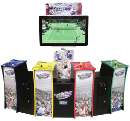 Virtua Tennis 4  Deluxe - 4 Player Model Virtual Tennis Video Arcade Game From SEGA