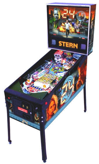 24 Pinball Machine By Stern Pinball From BMI Gaming - 1-800-746-2255l