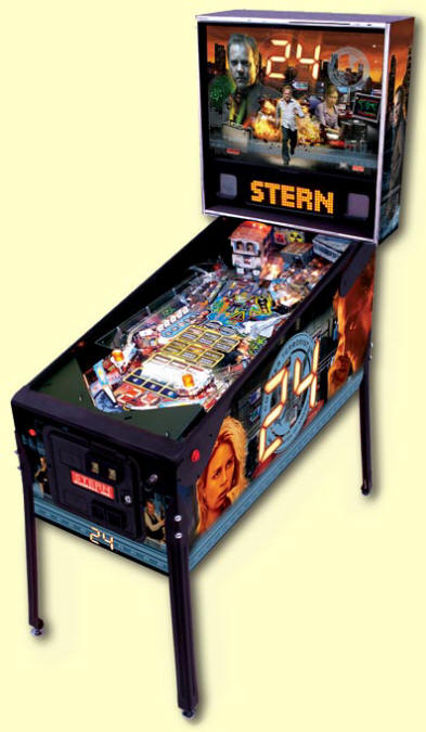 24 Pinball Machine From BMI Gaming By Stern Pinball Jack Bauer