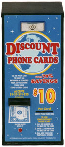 AC501 Phone Card Dispenser / Debit and Prepaid Plastic Card Dispenser | By American Changer Corporation