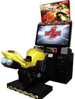 Nirin Motorcycle Racing Video Arcade Game / Nirin Superbikes Racing Video Game From Namco