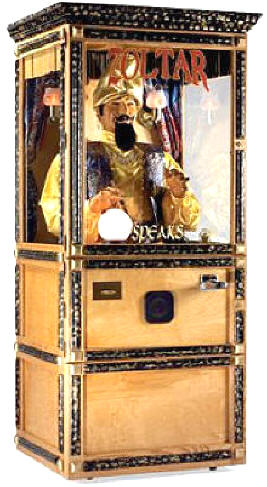 Zoltar Speaks Fortune Teller Macihine