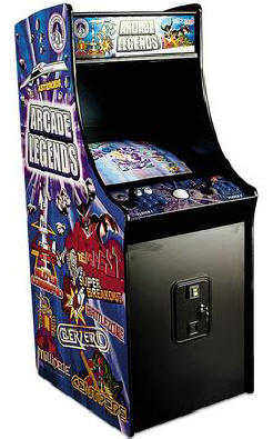 Arcade Legends 2 Upright Cabinet - Side View By Chicago Gaming