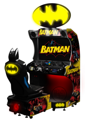 Batman Arcade Video Racing Combat Game From Raw Thrills