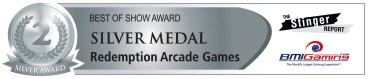 Best Of Show Awards - Silver Medal - Redemption Arcade Games | BOSA Amusements Awards - Presented by BMIGaming.com / The Stinger Report