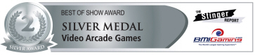 Best Of Show Awards - Silver Medal - Video Arcade Games | BOSA Amusements Awards - Presented by BMIGaming.com / The Stinger Report